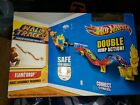 HOT WHEELS WALL TRACKS FLAME DROP DOUBLE JUMP NEW
