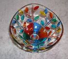 ZECCHIN ART GLASS TREE OF LIFE FOOTED DISH BOWL 4 MURANO