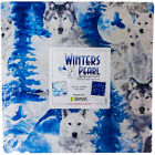Benartex Winters Pearl Wolf Bear Trees Cotton Fabric 10 Layer Cake 42 Squares
