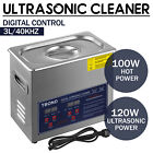 New Stainless Steel 3 L Liter Industry Heated Ultrasonic Cleaner Heater w Timer