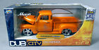 JADA DUB CITY OLD SKOOL 1 24 1951 Orange CHEVY PICK UP TRUCK NEW IN BOX
