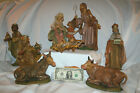 Vintage Nativity Set Euromarchi Italy Large 11 Pieces Figure about 12 tall