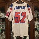 VTG #52 Ted Johnson New England Patriots Size 50 Adidas Authentic Jersey Sewn
