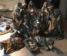 Mark Roberts Collection Resin Nativity Set 9 Piece Set Large Figures Read Info