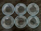 Vintage Fenton Art Glass French Opalescent Hobnail 8 Glass Plates 6 Pieces