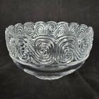 Vintage Signed Louis Comfort Tiffany  Co Crystal Art Deco Glass Bowl Scroll