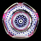 WHITEFRIARS 1976 Liberty Bell Cane Five Ring Concentric Millefiori