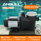 15HP Inground Swimming Spa Pool Pump 5040 GPH Speed Motor 2 Thread NPT UL