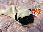 TY Beanie Baby Stuffed Plush Toy 1996 Pugsly the Pug Puppy Dog - Rare Retired
