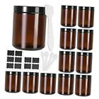 8 oz Amber Glass Jars with Black Lids12 Pack Empty Refillable Cosmetic