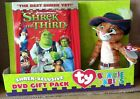 Shrek the Third 2007 DVD Gift Pack unopened Ty Beanie Babies Puss in Boots New