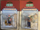 Lemax Village Collection Porcelain Boy Caroler With Dog And Boy With Shovel
