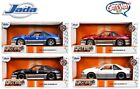1 24 Jada 1989 Ford Mustang GT 50 FOX Body Diecast Model Car Set of 4 Colors