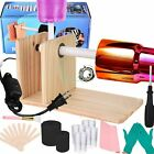 Cup Turner for Crafts Tumbler Spinner Machine Kit Single cup Wood Color