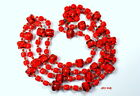 Hand Blown Red Glass Necklace Made in Japan Vintage