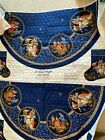 Quilted Tree Skirt Stocking Fabric 2 panels Oh Holy Night Nativity Christmas VIP