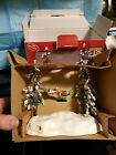 2004 Lemax Village Collection Swinging Santa with Box Battery Operated 44191