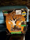 Lemax Spooky Town 2002 Lighted Tree Graveyard Ghost 24763A Halloween Village 8""