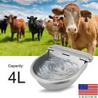 4L Automatic Stainless Steel Water Trough Horse Cow Dog Sheep Animal Goat Bowl