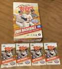 2011 Topps Update Hobby Box Opened - Empty + 4 empty packs - trout - No cards