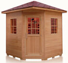 New Canadian Hemlock 3 4 Person Outdoor Infrared Dry Sauna SPA with Roof