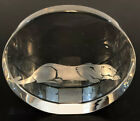 Tiffany  Co Crystal Paperweight Award Etched Crystal Jaguar Cougar