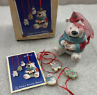 Hallmark SWEET TOOTH TREATS Christmas Ornaments w/Box porcelain 2002 Polar Bear