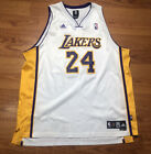 Authentic Kobe Bryant Adidas Los Angeles Lakers Jersey 24 White Length +2 XXL