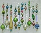 10 Vintage Mercury Glass Bead Icicle EASTER Christmas SPRING Ornaments Czech
