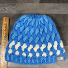 THE NORTH FACE Vintage BABY BLUE Chunky Cable Knot Beanie With Fleece Headband🌟
