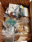 Jewelry Making Supplies Lot Glass Beads Fish Hooks Clasps and more 4lbs