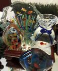 Art Glass Aquarium Paperweight Lot Great Quality and Details