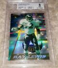 Ray Lewis 1996 Bowman's Best RC Atomic Refractors BGS 8