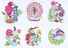Paper Cuts Peacock Set Colorful 10 small pieces Zhou 2 packets Lot