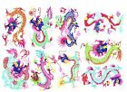 Paper Cuts Dragon SET 9 Colorful small Single pieces Zhou 2 packets Lot