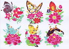 Paper Cut Butterfly over Flower Set 10 Colorful small pcs Chen 2 packets Lot