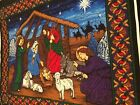 Vintage 2004 Nativity Scene Fabric Panel 35 x 45 Free Shipping