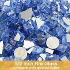 10LB Reflective Fire Glass for Natural Propane Indoor Fireplace Fire Pit Outdoor