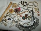 Huge 33pc Vintage Now Rhinestone BLING Jewelry Lot JCrewMarvella 9 Signed