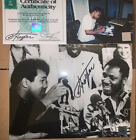 MUHAMMAD ALI JOE FRAZIER SIGNED BOXING PHOTO WITH PROOF SUPERSTAR GREETINGS COA
