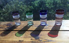 4 Ajka Design Guild Multi Colored Cut To Clear Crystal Highball Glasses