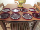 EIGHT Vintage Anchor Hocking Royal Ruby 9 1 8 Red Glass Dinner Plates MINT