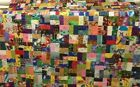 Amazing Scrappy Crazy Block Quilt Top Unfinished Great Quality and Design