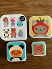 Paperchase 4 Snack/Lunch Boxes Brand New School/work + FREEGIFT + FREEPOST