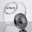 4 Pack 1 Gallon Glass Penny Candy Coffee Beans Jar With Chrome Lid Home Kitchen