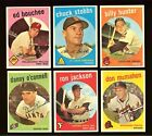 1959 Topps Baseball: Choose Your Card #474 to #569 *** UPDATED 03 27 2021