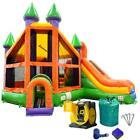 Commercial Inflatable Bounce House With Blower Dry Slide Combo Orange Castle