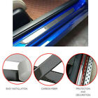 Car Stickers 5D Carbon Fiber Rubber Door Sill Protector For Auto Accessories