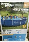 Summer Waves 15ft Active Metal Frame Pool With 600GPH Filter Pump