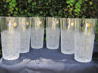 BOHEMIA QUEEN LACE HAND CUT 24 LEAD CRYSTAL WATER GLASS 12 OZ MINT 6 PC